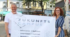 Laden ab Montag wieder zum Zukunfts-Campus Ohligs ein: ISG-Geschäftsführerin Gloria Göllmann und Businesscoach Holger Häde. (Archivfoto: © Bastian Glumm)